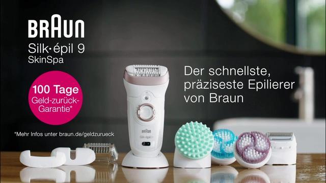 Braun - Silk-épil 9 SkinSpa - Anwendung Video 8