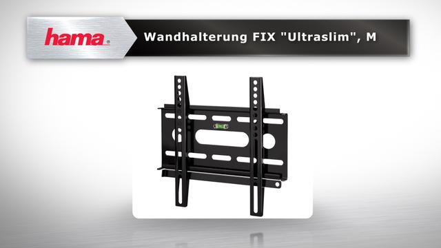 """Hama TV-Wandhalterung FIX """"Ultraslim"""", 3 Sterne, M Video 3"""