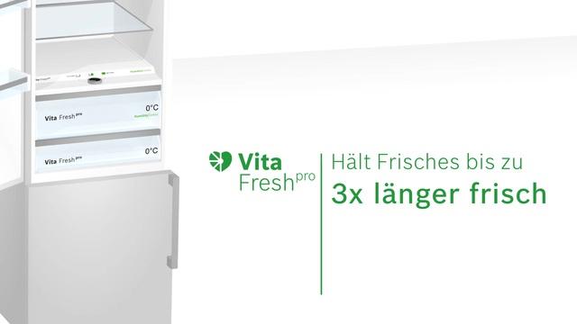 Bosch - VitaFresh pro - Das innovative Frischesystem Video 3