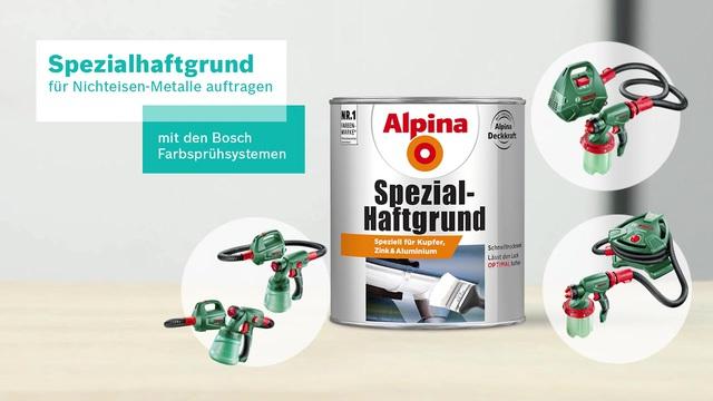 Bosch Farbsprühsystem - Spezialhaftgrund für Nicht-Eisenmetalle Video 3