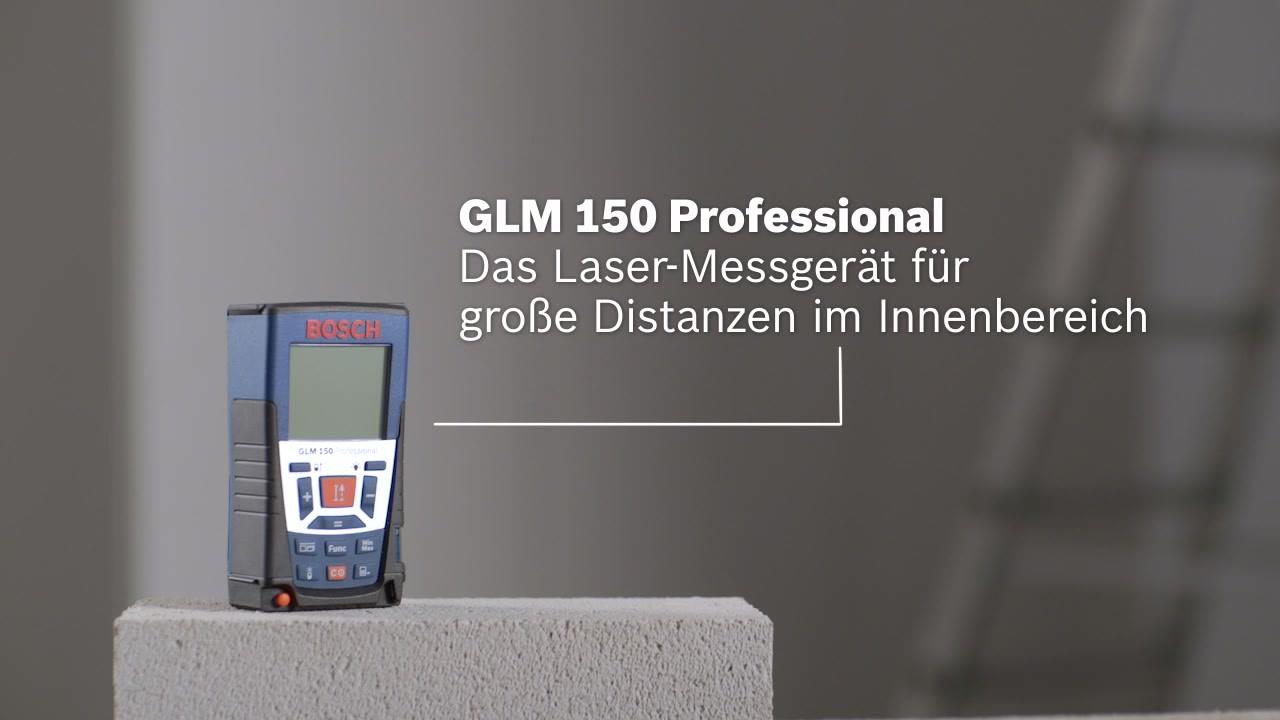 Bosch Laser Entfernungsmesser Bluetooth : Glm 150 laser entfernungsmesser bosch professional