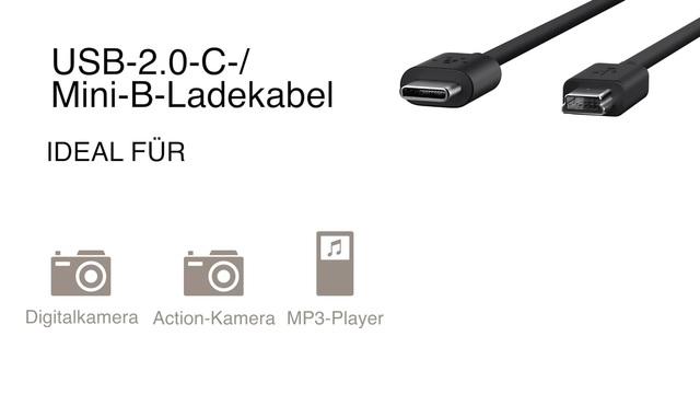 Belkin - USB Mini-B auf USB C Kabel Video 3