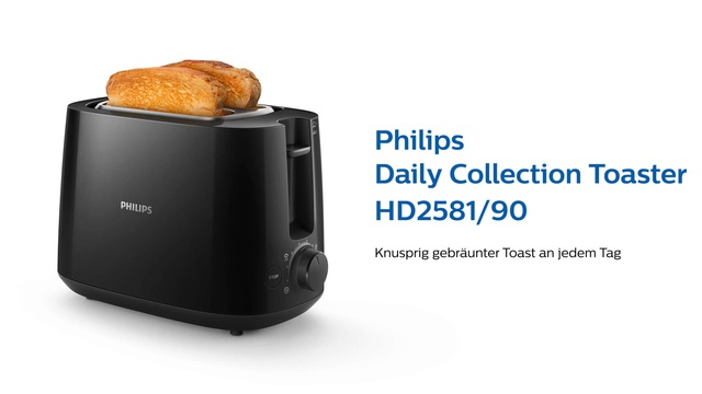 Philips Daily Collection Toaster HD2581/90 Video 3