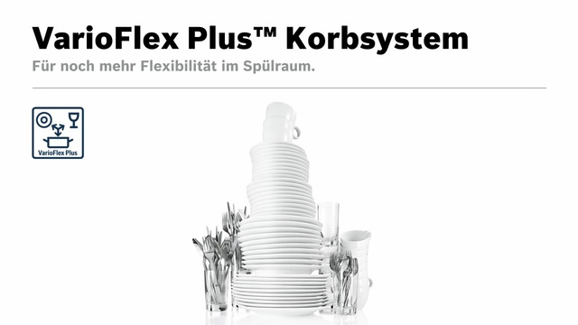 Bosch - VarioFlex Plus Korbsystem Video 9