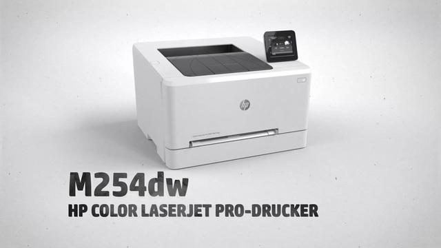 HP - M254dw Color Laserjet Pro-Drucker Video 3
