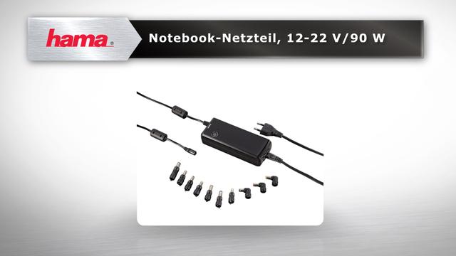 Hama Universal-Notebook-Netzteil, 12-22 V/90 W Video 3