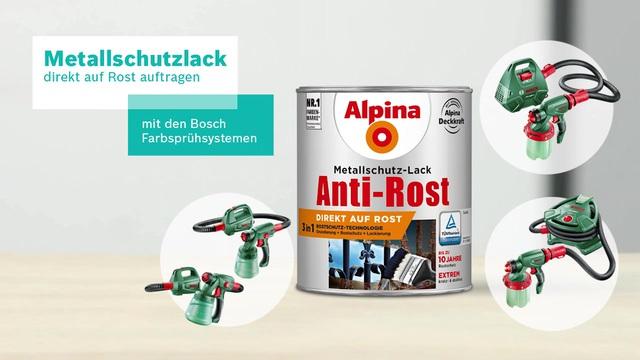 Bosch Farbsprühsystem - Metallschutzlack direkt auf Rost auftragen Video 4