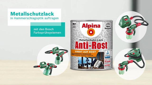 Bosch Farbsprühsystem - Metallschutzlack in Hammerschlagoptik Video 2