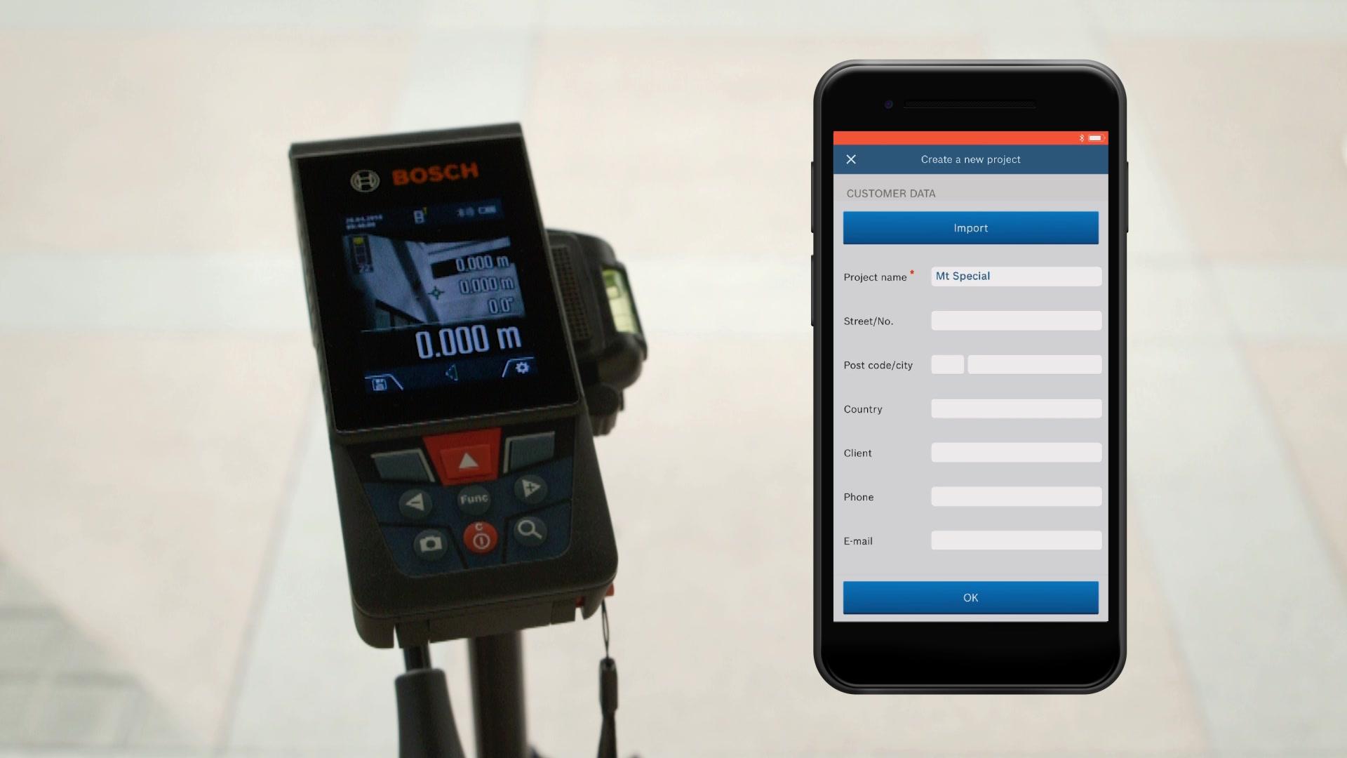 Laser Entfernungsmesser Optischer Sucher : Glm c laser entfernungsmesser bosch professional
