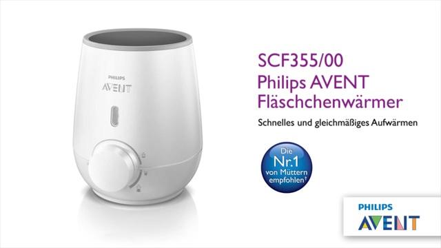 Philips Avent Schneller Flaschenwärmer SCF355/00 Wärmt gleichmäßig, keine heißen Stellen, wärmt schnell auf, sanftes Auf Video 3