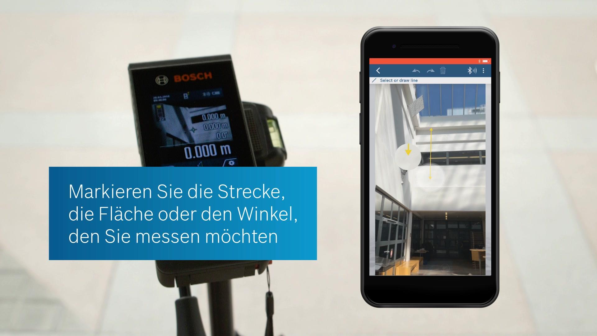 Bosch Entfernungsmesser Blau : Bosch entfernungsmesser glm professional blau im