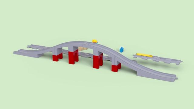 LEGO Duplo - Eisenbahnbrücke und Schienen 10872 Video 3