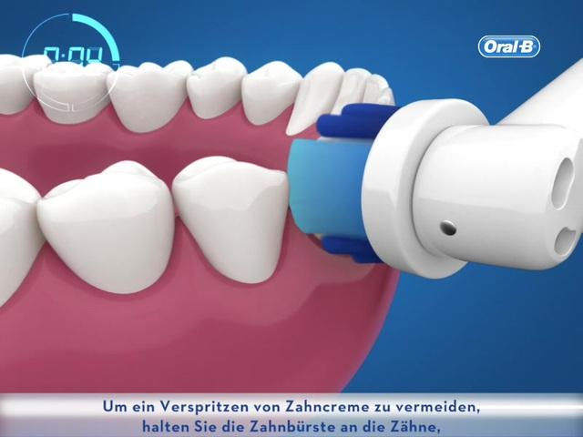 Oral-B - Putzanleitung oszillierend-rotierender Bürstenkopf Video 2