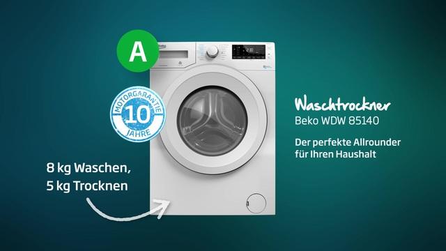 Beko - WDW 85140 Waschtrockner Video 3