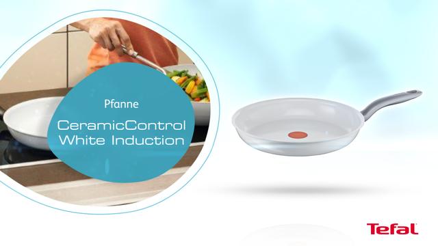 Tefal - CeramicControl Induction Pfannen weiß 20cm Video 3