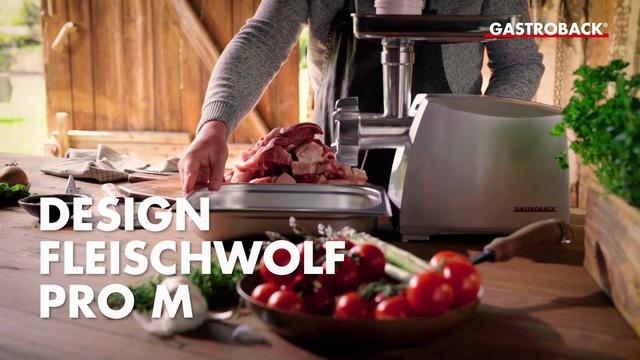 Gastroback - Design Fleischwolf Pro M (Bratwurst selber machen) Video 15